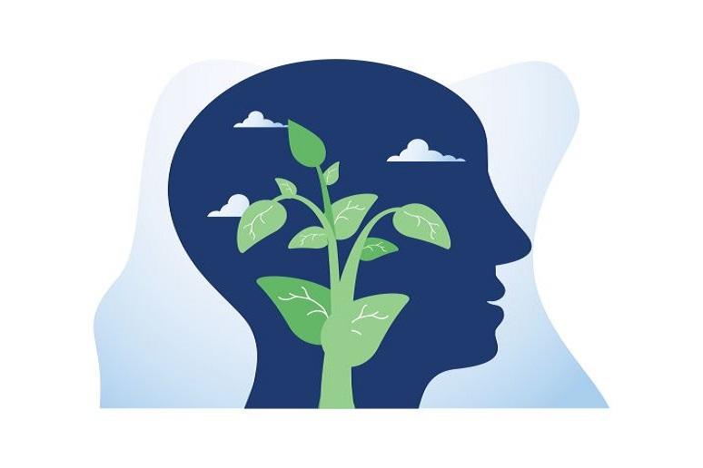 Illustration of ideas insight brain