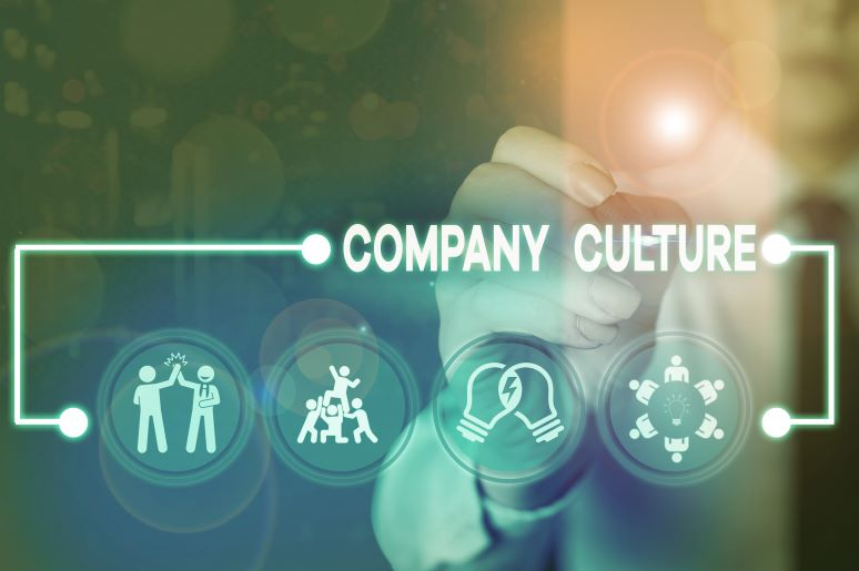 Illustration showing company culture ideas