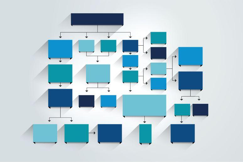 Flowchart representing organization design
