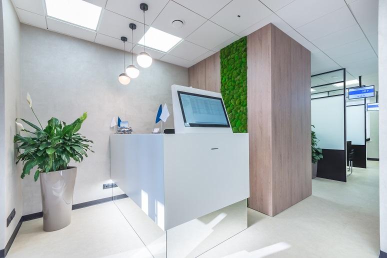 High-tech office lobby