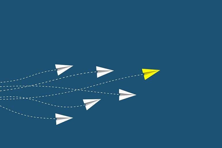Illustration showing concept of leadership