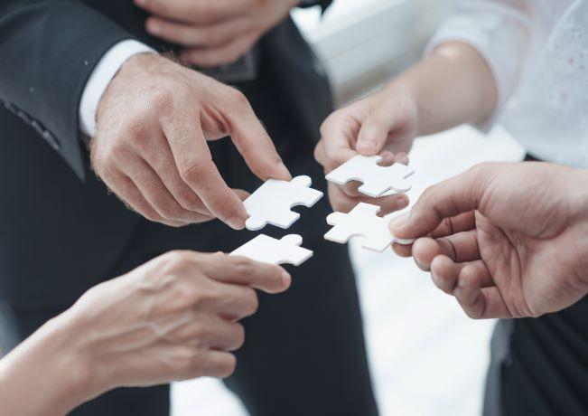 Photo showing business teamwork