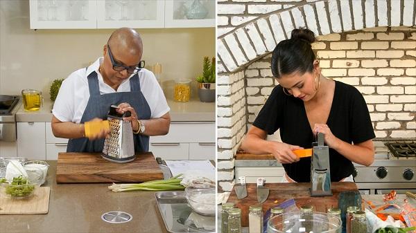 Photo with chef Tonya Holland and actress Selena Gomez on Selena + Chef show