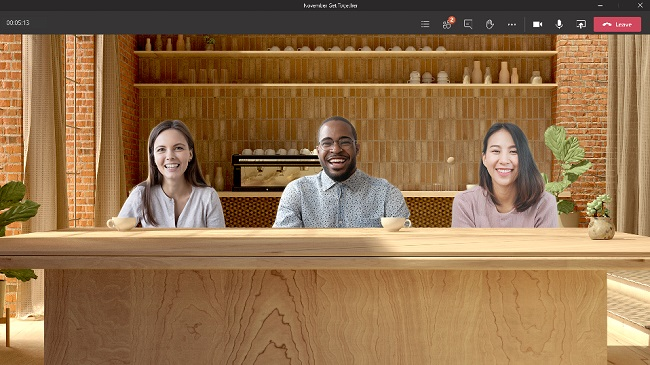 Microsoft Together mode, coffee break