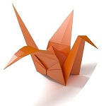 Office Origami logo of a paper crane