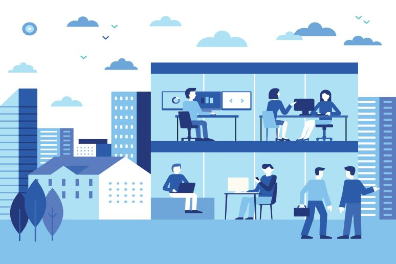Illustration of office hub