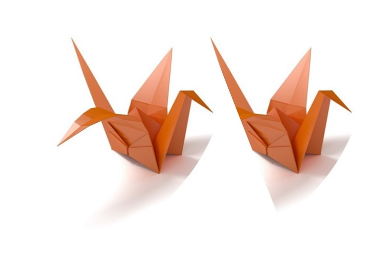 Picture of two cranes