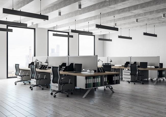 Photo of an open office floor plan