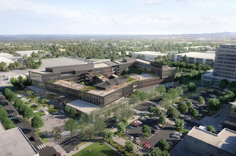 Rendering of REI's planned headquarters