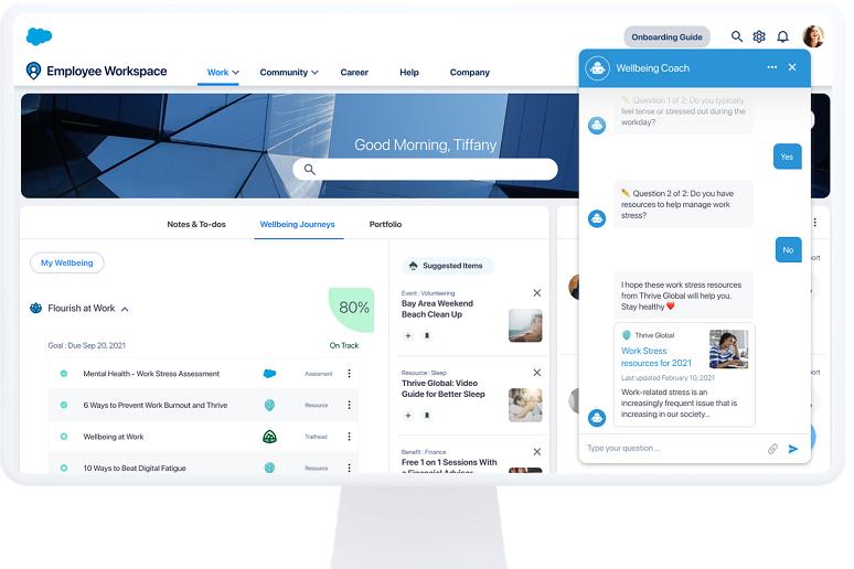 Salesforce's Work.com interface