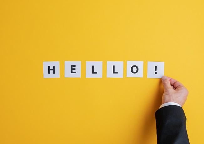 Illustration of hello sign
