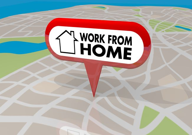 "Map app with ""work from home"" as location marker"