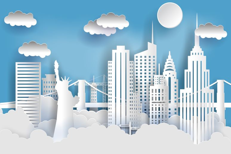 New York City concept drawing