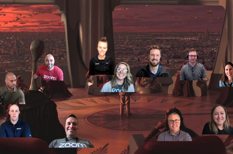 Screen capture of Video meeting with Zoom Immersive Share