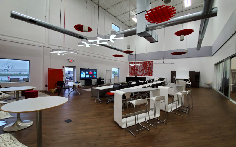 Photo showing elements of modern office space