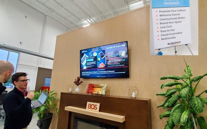Picture of digital signage
